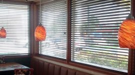 Blinds put to use in Denny's