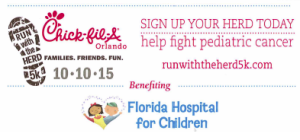 Window Interiors will be running in Chick-fil-A's Run with the Herd 5k.