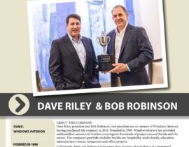 President Dave Riley and Vice President Bob Robinson win the CEO Nexus Cup Award